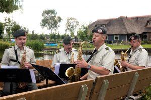 Het ensemble tijdens opnames afgelopen zomer in Belt-Schutsloot.